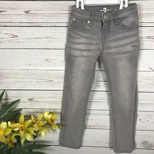 7 For All Mankind The Skinny Gray Jeans